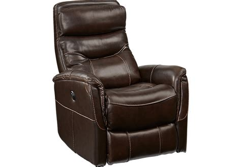 furniture power recliner home bello brown leather power swivel