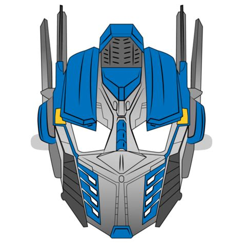 transformer mask template  printable papercraft