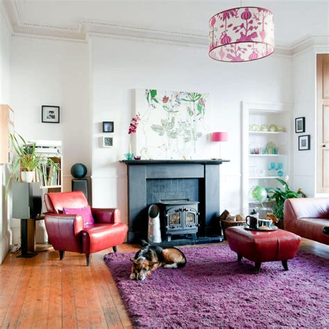 Put A Modern Contrast To The Thick Carpet In Purple