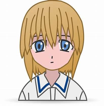 Anime Manga Vector Clipart Clip Sad Svg