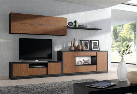 cuisine chene moderne ensemble de meubles tv modernes chne marron et noir