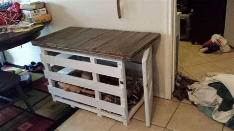 rustic dog crate  upcycled pallets  pallets
