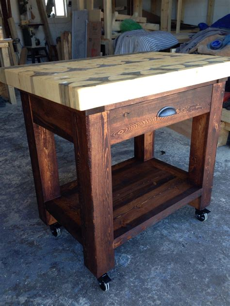 kitchen island butcher block top kitchen island with butcher block top handcrafted from