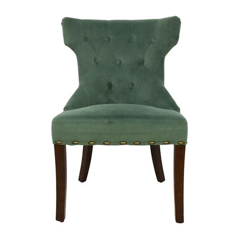 Hourglass Dining Chair Smoke Blue Damask by Black Vintage Coffee Table Shop