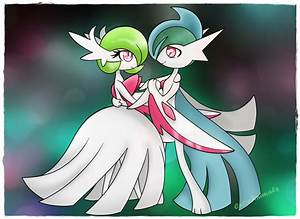 Mega Gardevoir and Mega Gallade by CutieAnimals on DeviantArt