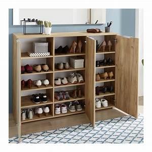 Grand Meuble A Chaussure : grand meuble a chaussures scandinave 30 paires rosvik so ~ Melissatoandfro.com Idées de Décoration