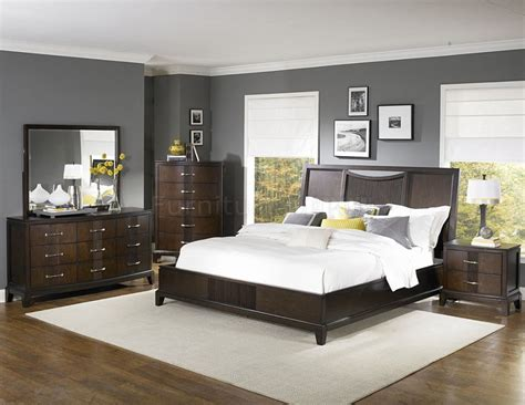 bedroom colors with espresso furniture home design ideas