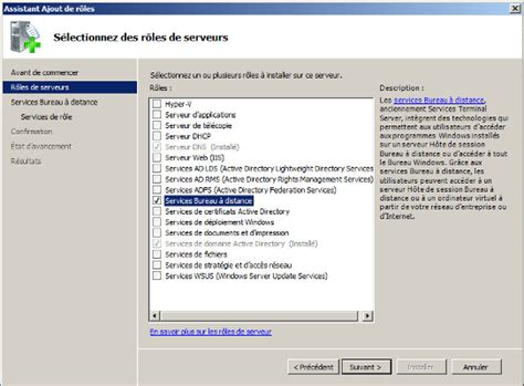 service bureau a distance partie iii installer terminal server