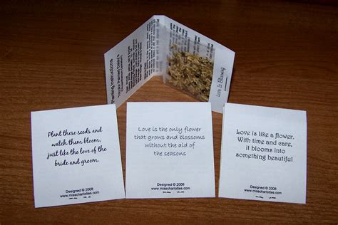 wedding flowers wedding favors  flower seed packets