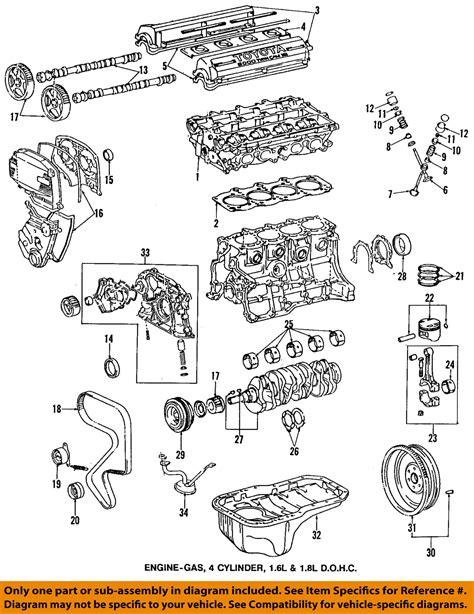 1997 Toyotum Corolla Engine Diagram by Toyota Oem 95 97 Corolla Engine Timing Gear Sprocket