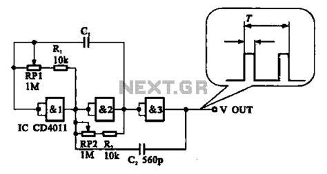 Adjustable Pulse Generator Circuit Under Oscillator