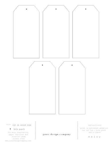 diy gift tags  template  printable paper