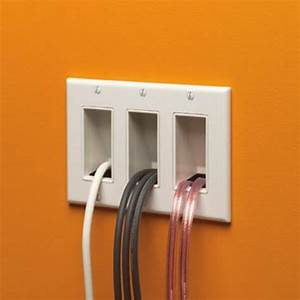 Arlington Black Cable Entrance Wall Plates The Scoop By