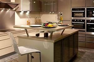 cuisines avec ilot central obasinccom With cuisine design avec ilot central