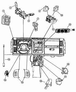 2003 Jeep Wrangler Switch  Windshield Wiper  Rear  Trim