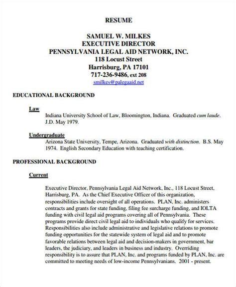 sample legal resume templates