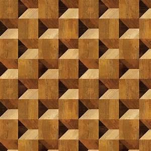 Cube Illusion Wood Veneer Pattern