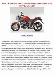 Moto Guzzi Breva V1100 Service Repair Manual By