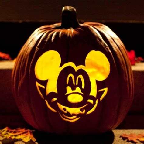 Vire Mickey Mouse Pumpkin Template by Cool Disney Inspired Pumpkin Carving Ideas