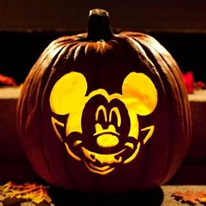 cool disney inspired pumpkin carving ideas With vampire mickey mouse pumpkin template