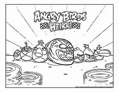 Angry Coloring Birds Pages Kart Bird Sheet