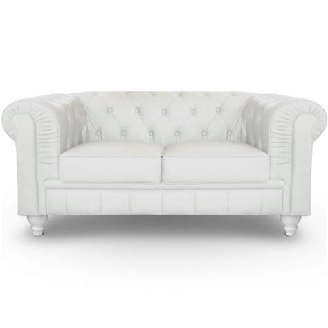 canapé 2 places chesterfield canapé 2 places chesterfield blanc pas cher déco
