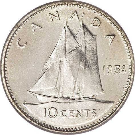 1964 dime value canada195410 cents