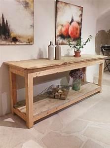 Meuble Bois Brut : console bois ancienne ~ Teatrodelosmanantiales.com Idées de Décoration