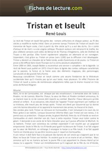 tristan et iseult resume par chapitre tristan et iseult ren 233 louis fiches de lecture