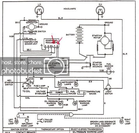 Ford 1710 Wiring Diagram by Generator Voltage Reg Problems Yesterday S Tractors 417123