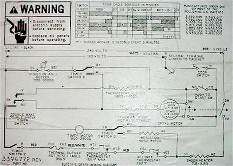 electrical diagram  whirlpool dryer circuit diagrams
