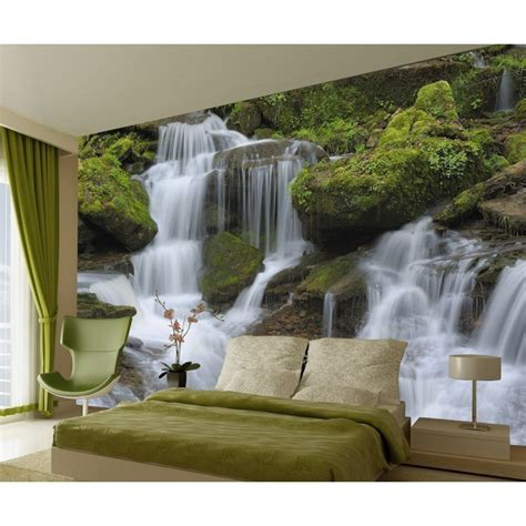 wall waterfall wall mural