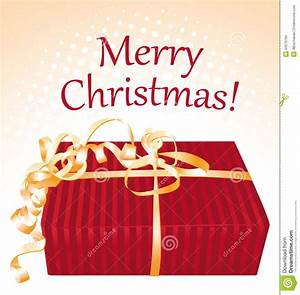 Merry Christmas. Gift Box Greeting Card. Royalty Free ...