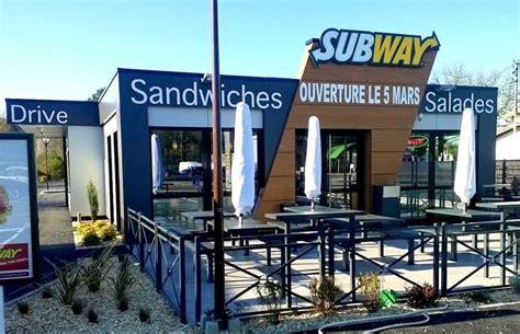 mont de marsan accueille le troisime restaurant subway quip d un drive en