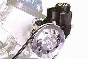 Power Steering Pump  Pulley  Reservoir  U0026 Billet Port