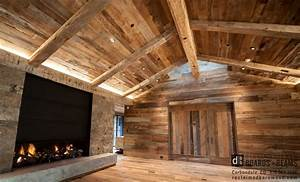Barn wood distinguished boards beams for Barnwood panelling
