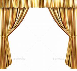 background with gold curtain by grebenuk graphicriver With gold curtains background