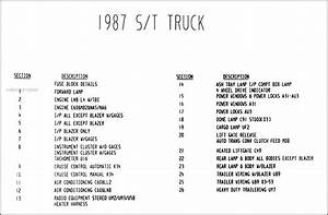 1987 Chevy  Gmc S  T Wiring Diagram Manual Original Pickup
