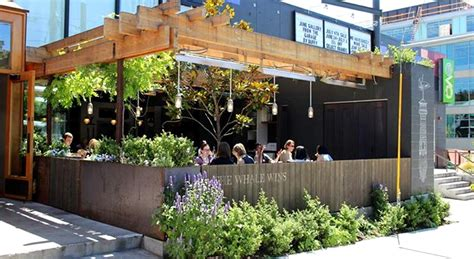 outdoor patio design of the whale wins restaurant seattle