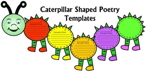 caterpillar poems unique caterpillar shaped poetry templates