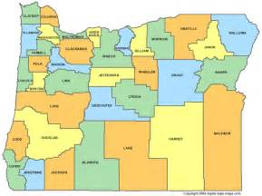 Oregon County Map - OR Counties - Map of Oregon Oregon