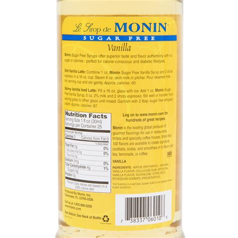 A wide variety of sugar free coffee syrup options are available to you, you can also choose from filtered, colored and flavored sugar free. Monin 750 mL Sugar Free Vanilla Flavoring Syrup