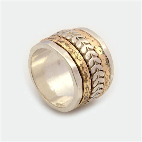 antique spinner ring extra wide spinner ring antique