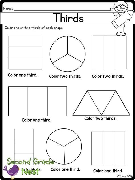 fractions printables math fractions 2nd grade