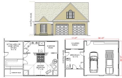 House Plans Master Bedroom Above Garage by Outstanding Garage With Bedroom Above Plans 27 In Interior