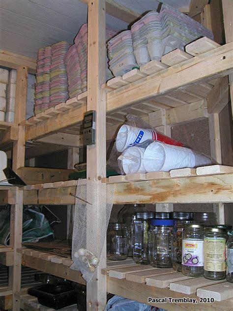 plan de chambre froide chambre froide au sous sol plan rangement pour les conserves