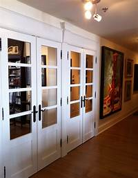 mirrored closet doors Today's idea, changing your hallway closet doors ...