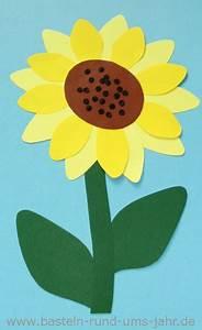 Blumen Basteln Vorlage : sonnenblume basteln aus tonpapier basteln rund ums jahr ~ Frokenaadalensverden.com Haus und Dekorationen