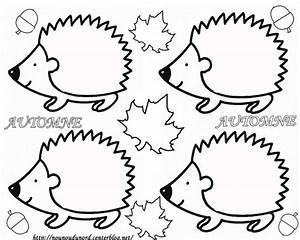 Feuilles D Automne à Imprimer : coloriage les h rissons d 39 automne imprimer h risson exploitation d 39 albums po sies chansons ~ Nature-et-papiers.com Idées de Décoration