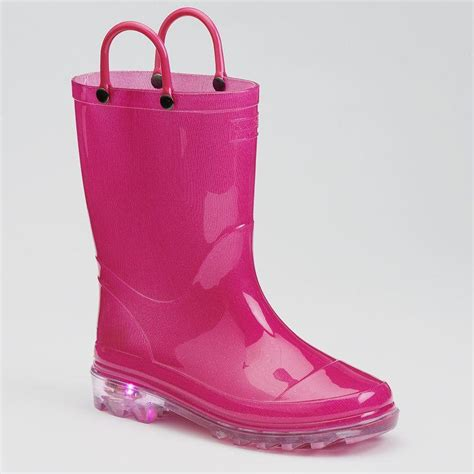 light up boots for girls western chief girls 39 light up rain boots from kohl 39 s